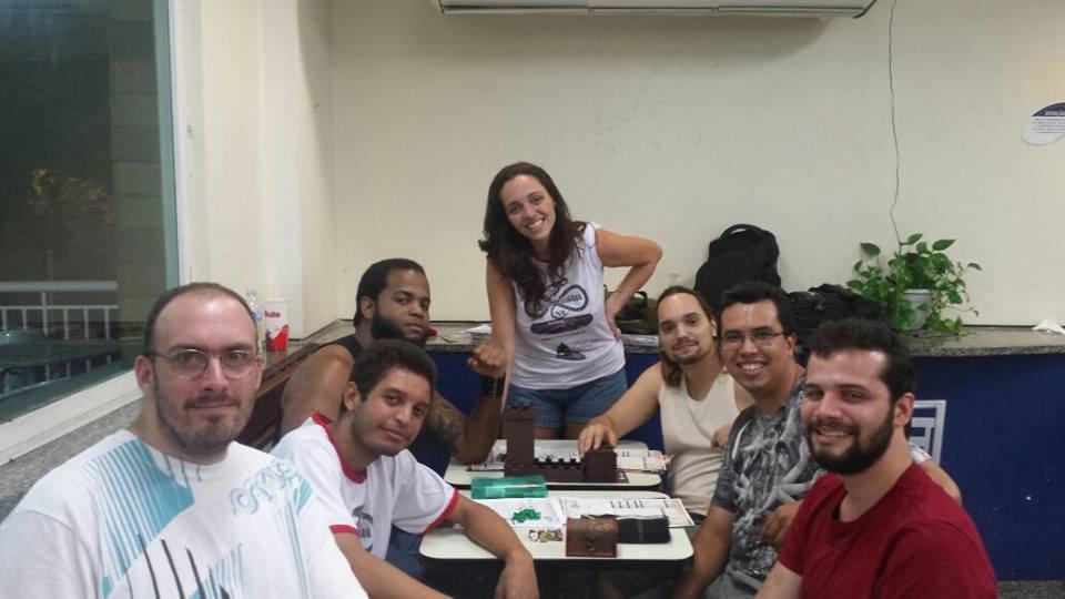 Luciana Fortuna mestrando Lenda dos Cinco Anéis RPG no Encontro da REDERPG no Bob's