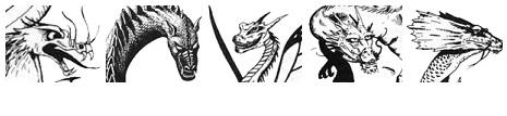 Linha um: Pan Lung (Serpentino), Dragões da Sombra, Fada, da Névoa e das Nuvens