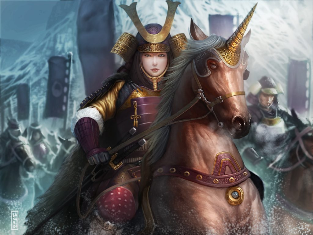 Unicorn_Legend_of_five_rings_by_LASAHIDO