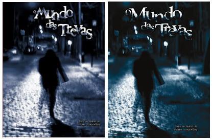Comparação entre a capa da primeira e da segunda impressão em português