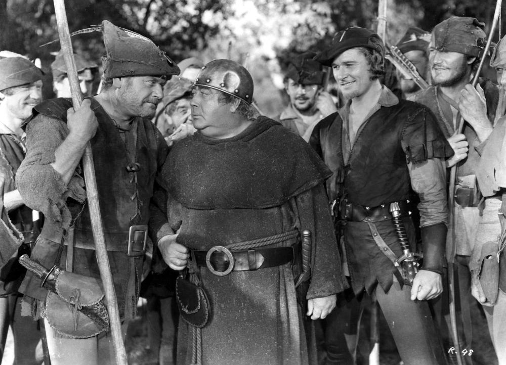 ADVENTURES OF ROBIN HOOD, Alan Hale Sr., Eugene Pallette, Errol Flynn, 1938