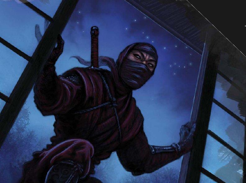 Shosuro Tagiso, um ninja da família Shosuro.