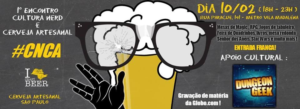 Encontro Cultura Nerd e Cerveja Artesanal