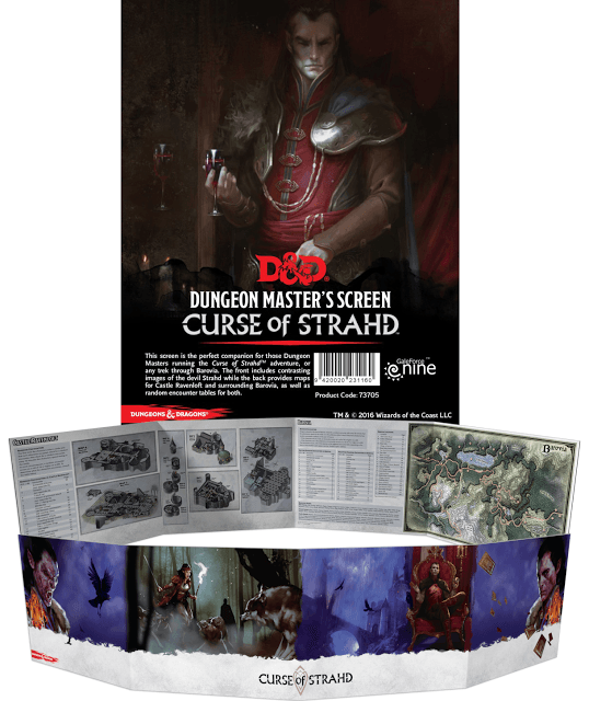 Curse of Strahd DM Screen
