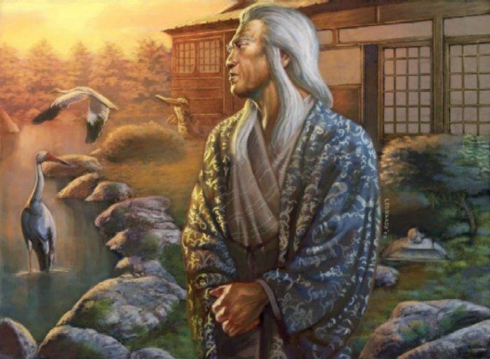 Asahina Ekei – um shugenja da Garça.