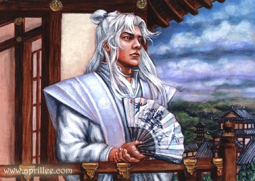 O lendário cortesão Kakita Yoshi.