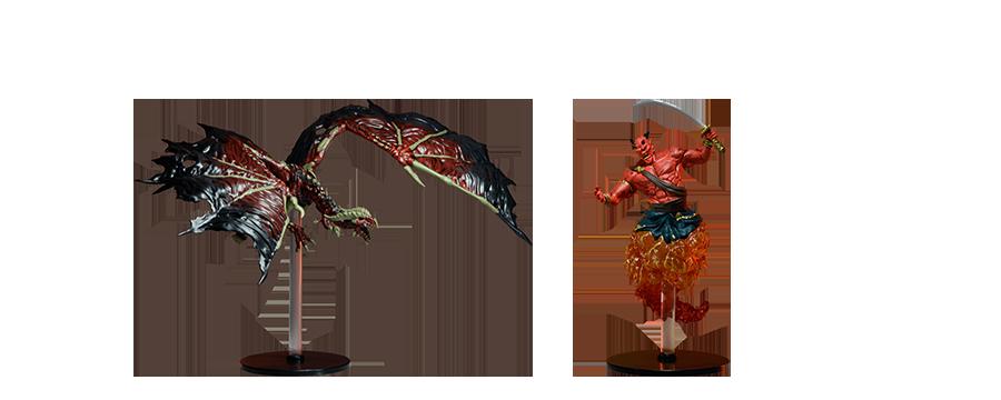 Dracolich Vermelho e Efreet
