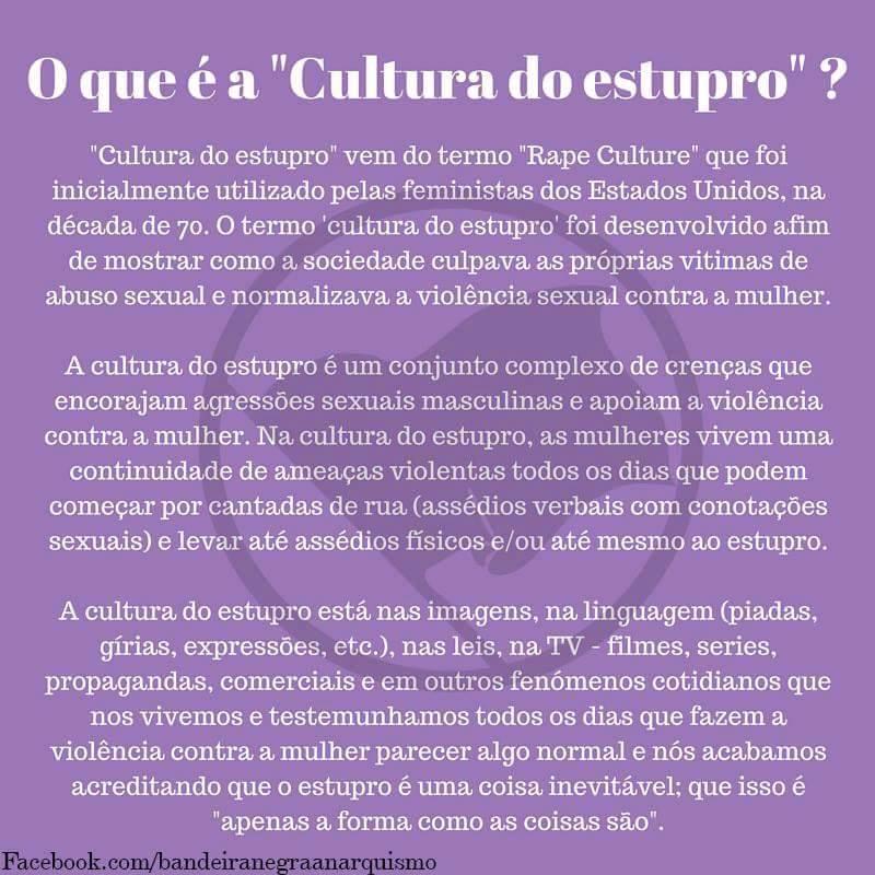 Cultura do Estupro