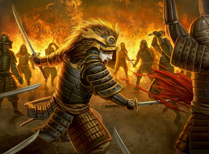 Matsu Haruya, buscador da morte do Clã do Leão.