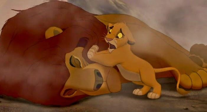 Quem não se lembra da morte do Mufasa? Eu chorei muito.